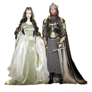 Arwen and Aragorn-barbies