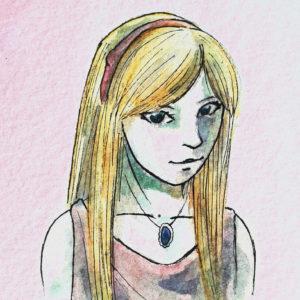 Watercolor portrait of Tara Maya
